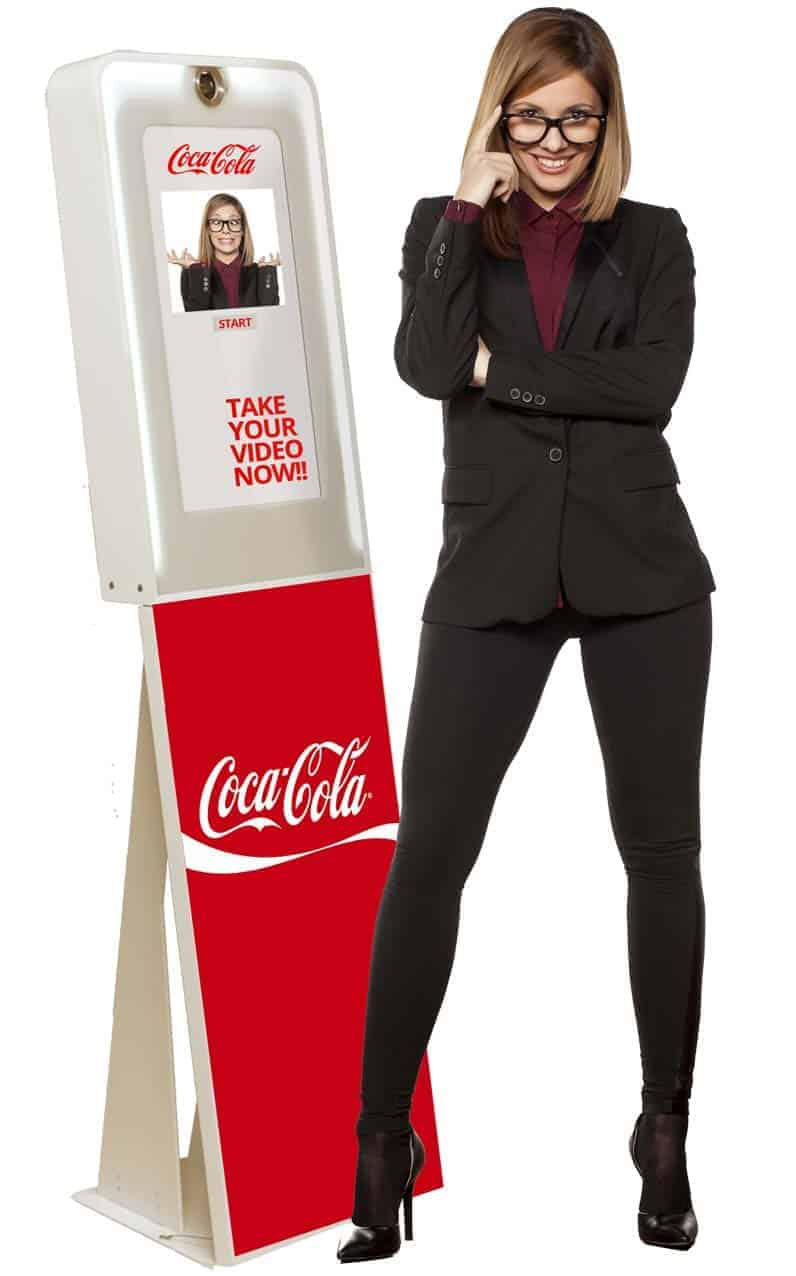Woman Standing Infront of a Keshot Photo Kiosk